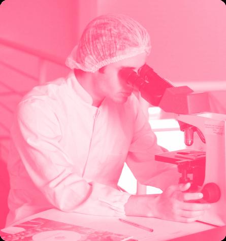 A scientist at work
