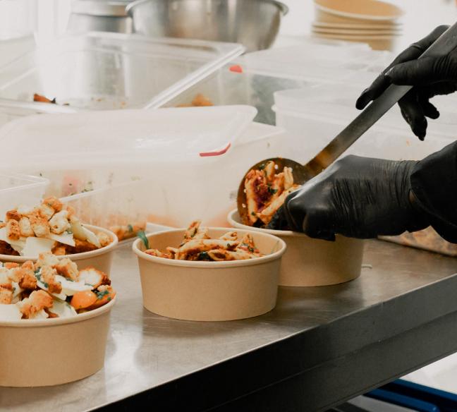 box pour pâtes à livrer