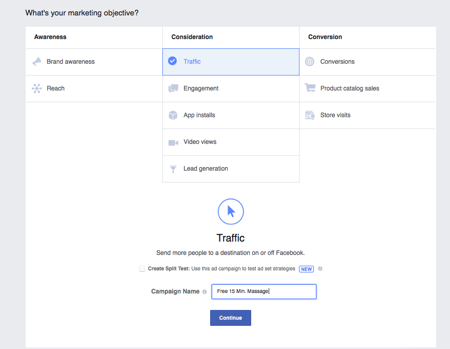Facebook ads for chiropractic leads setup