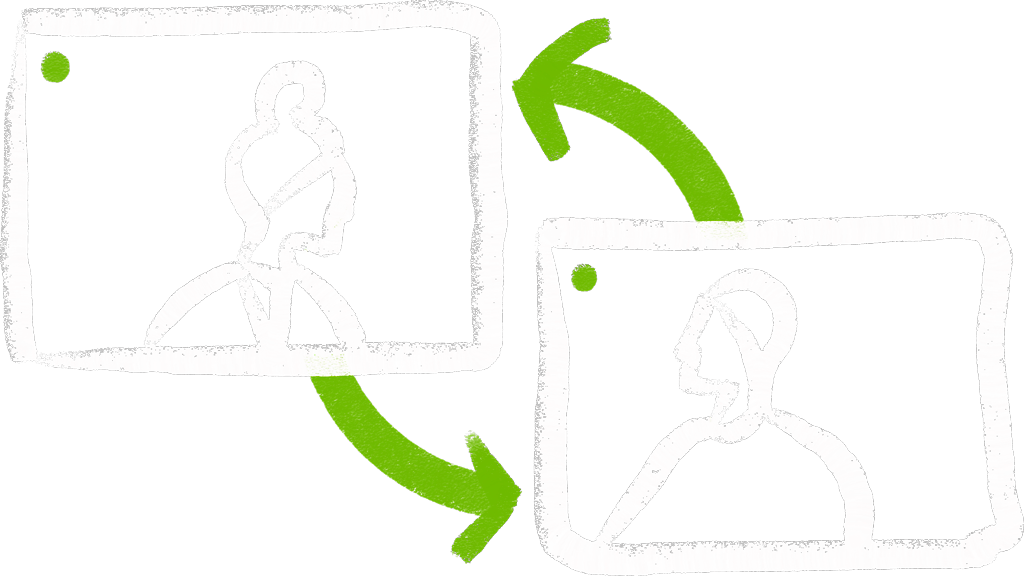 Virtual networking icon