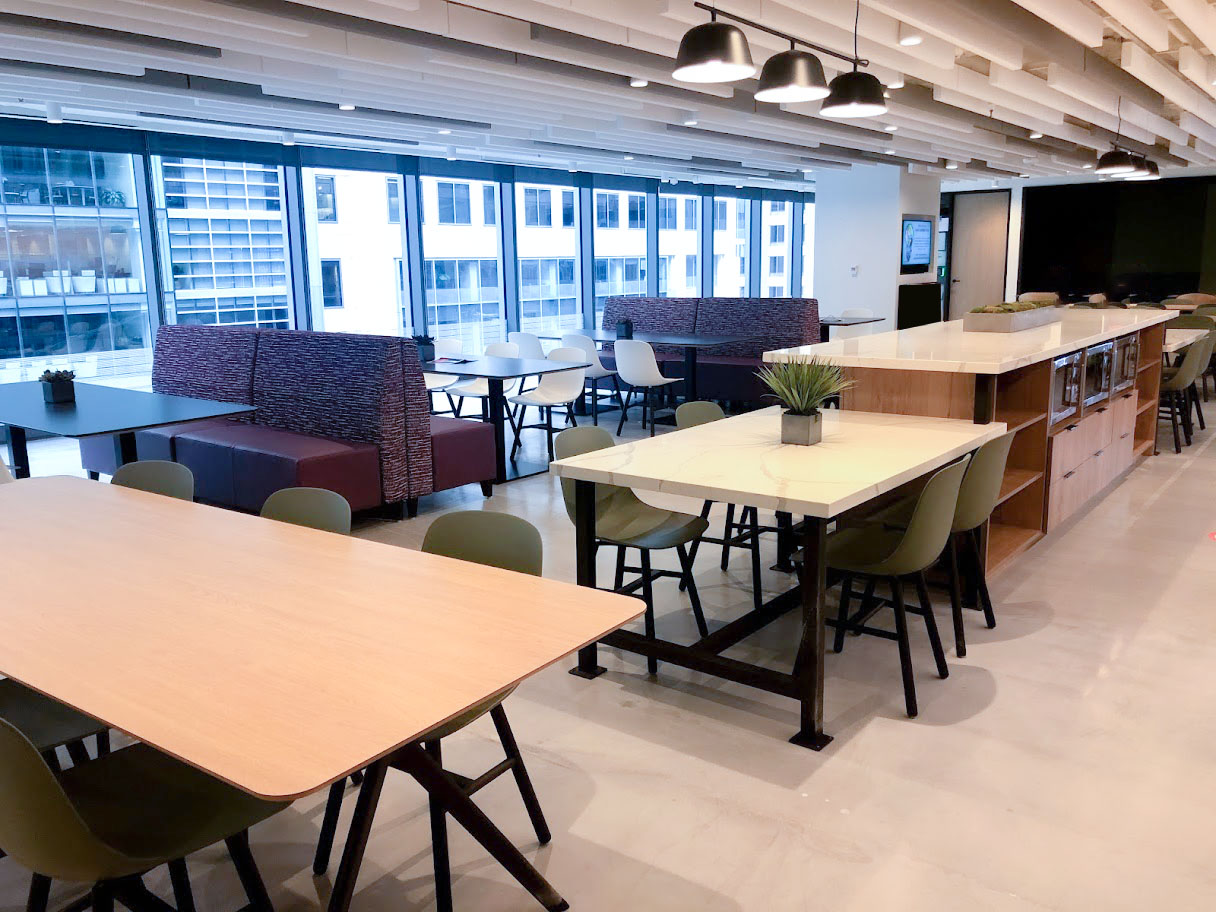 Cafe space at the 360 Live Media headquarters
