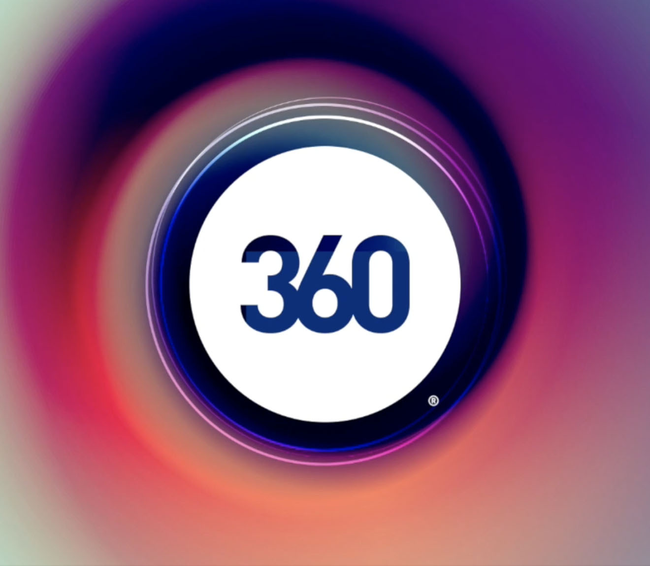 360 Live Media logo over a colorful background