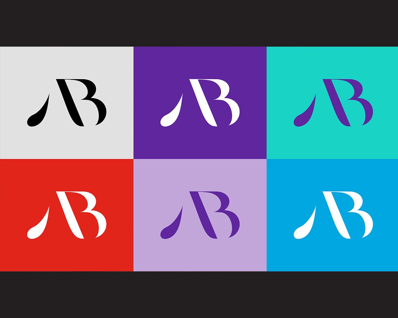 Colorful grid of American Beverage monogram logos