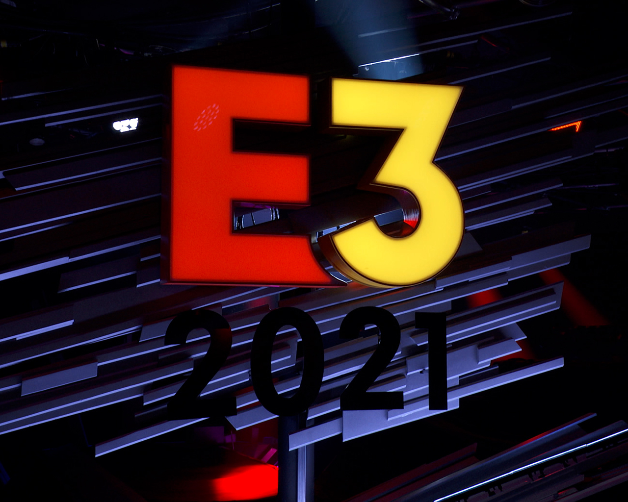 Physical E3 2021 logo from stage set