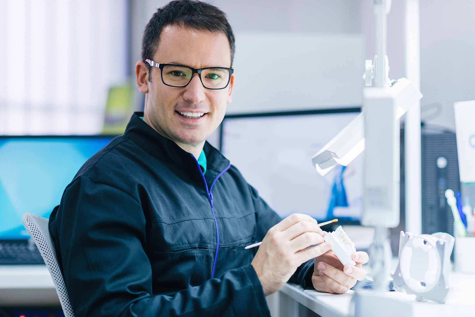 Restoring a smile with Whittier dental crowns.