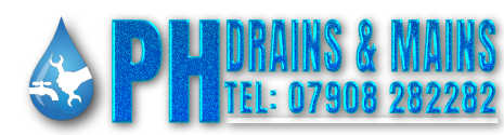 The PH Drains and Mains logo.