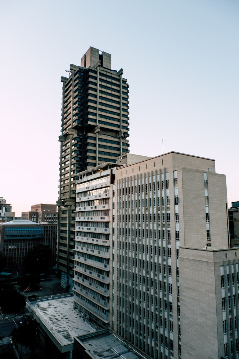 Architectural image of a building in Johannesburg, South Africa.