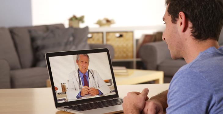 a telemedicine meeting