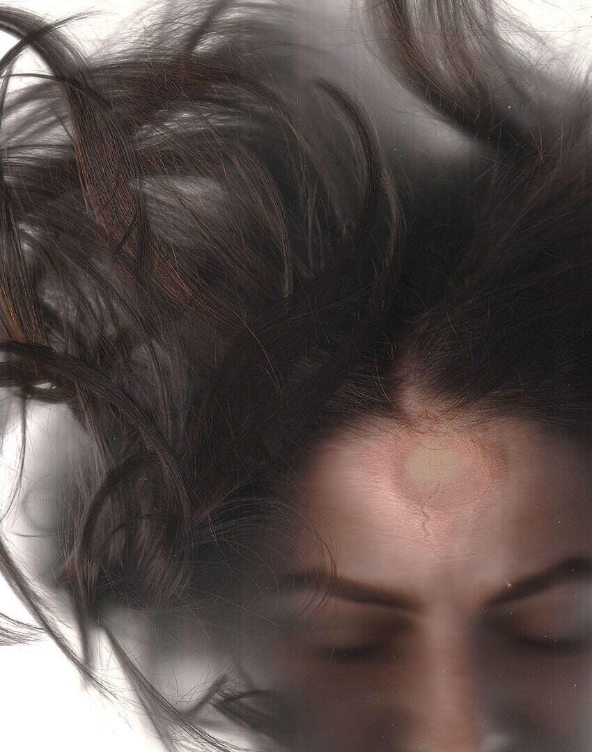PSEUDONYM SS20 fashion/apparel campaign, Skin Imprint 03—forehead.