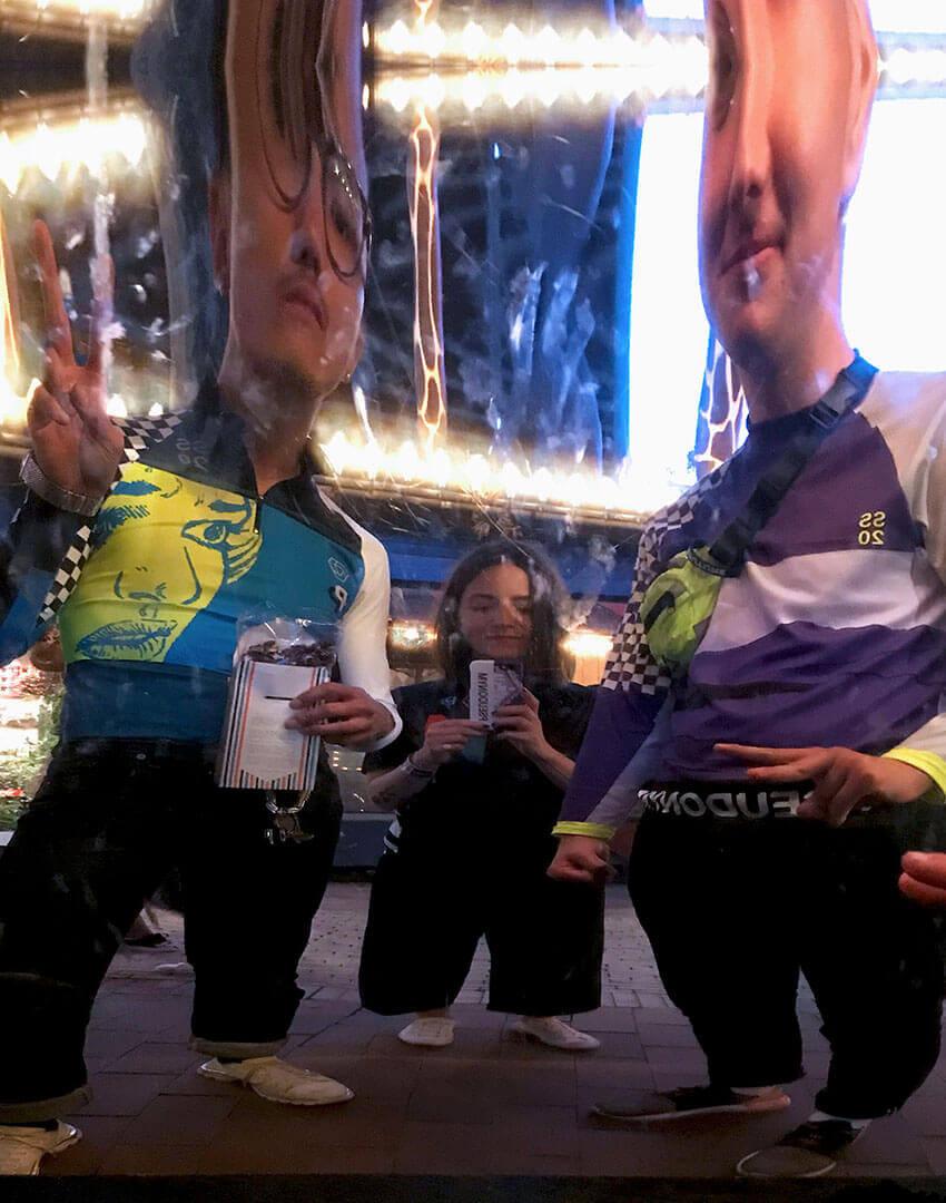 PSEUDONYM SS20 fashion/apparel campaign, Amusement Park 01—funny mirror.