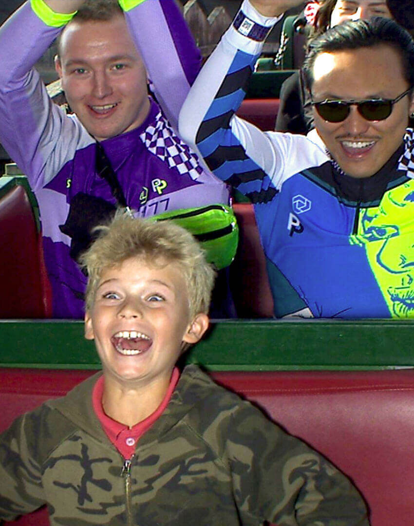 PSEUDONYM SS20 fashion/apparel campaign, Amusement Park 02—roller coaster.