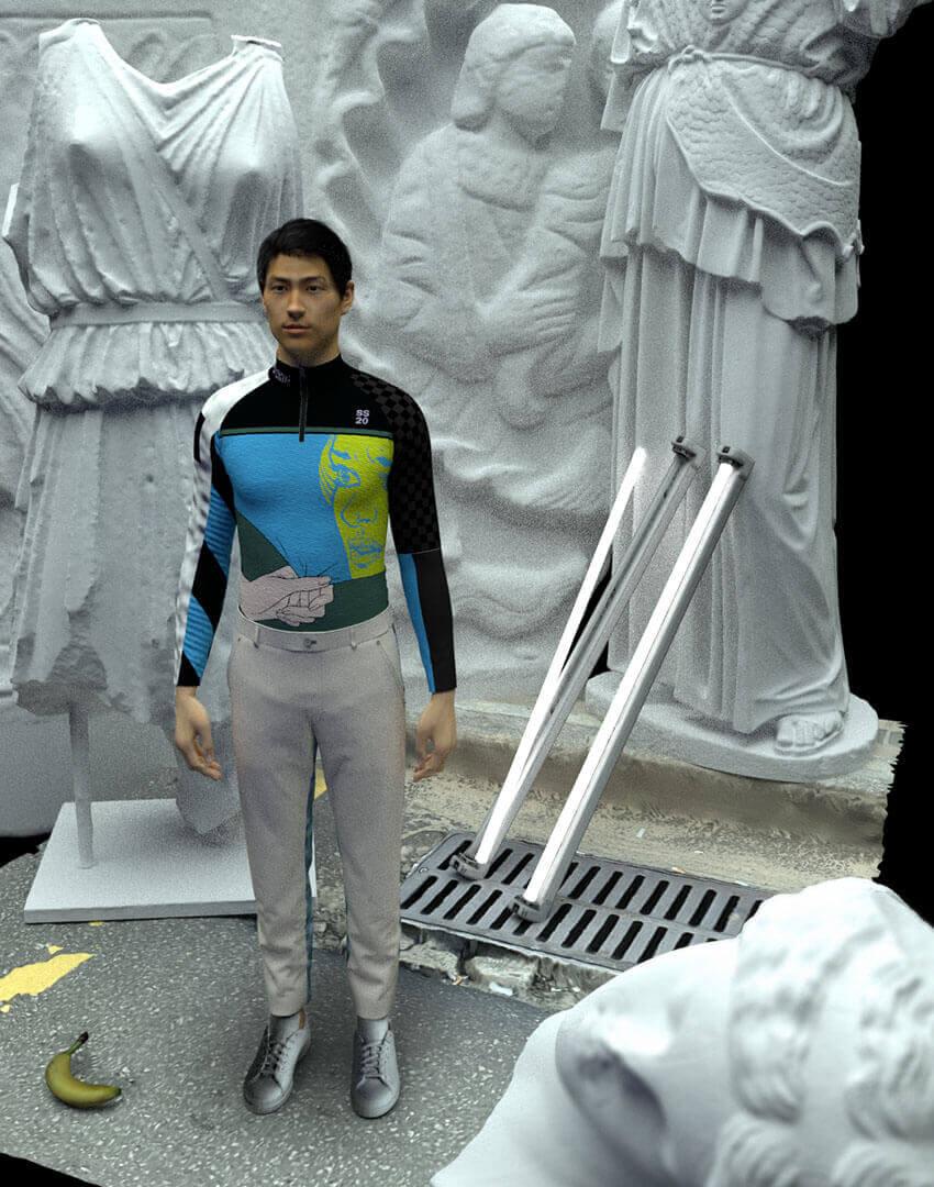 PSEUDONYM SS20 fashion/apparel campaign, Virtual Reality 01.
