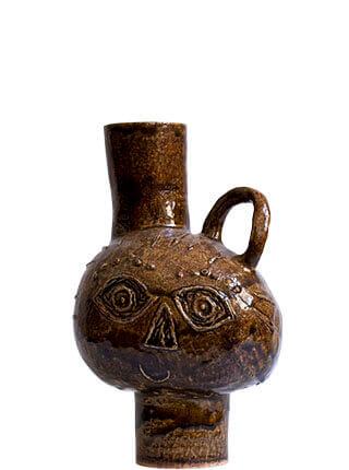 Glazed stoneware head water jug, Pseudonym Objects for Everyday Living.