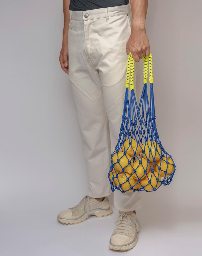 P.S. Field Bag 01 (EU), blue/neon yellow colorway.