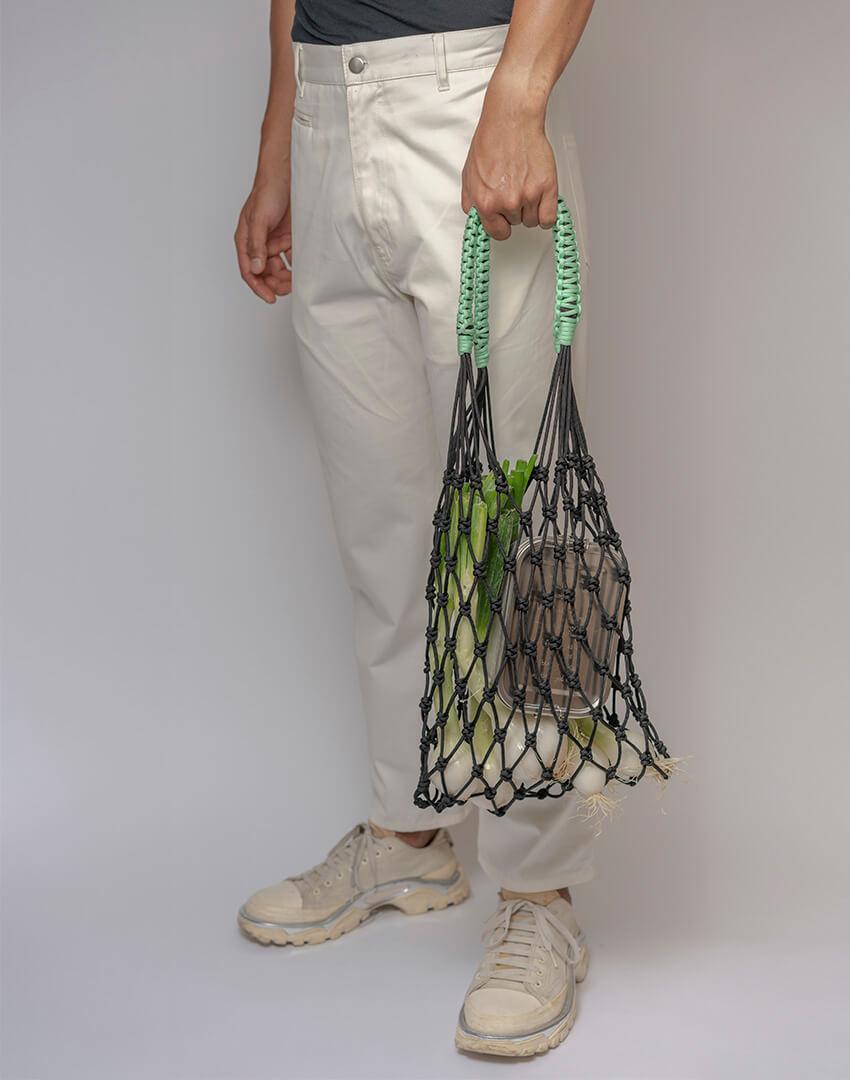 P.S. Field Bag 04 (P.S.), black/mint colorway.