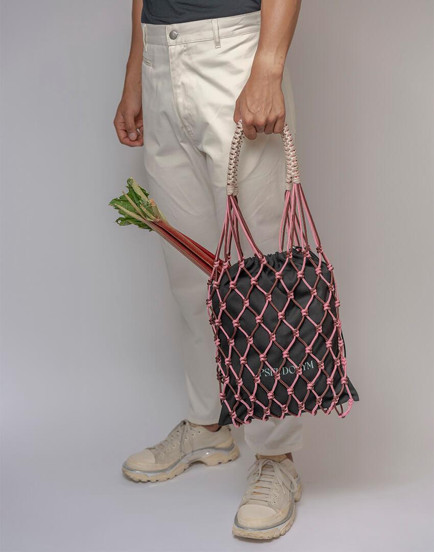 P.S. Field Bag 08 (Neapolitan Ice Cream), pink/brown/cream colorway.