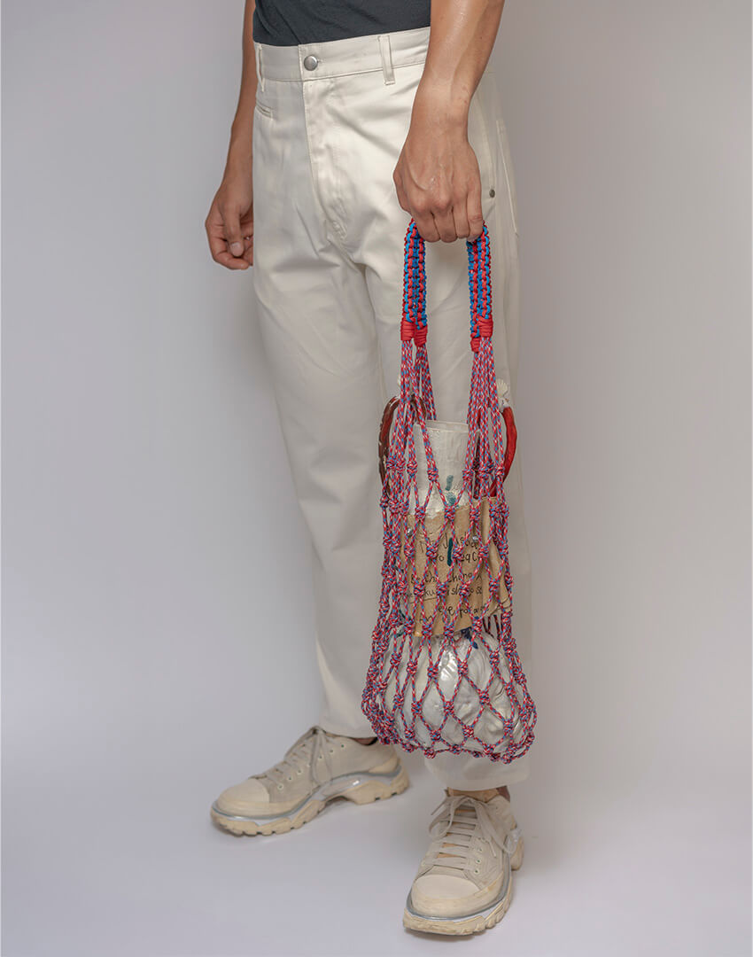 P.S. Field Bag 12 (Butchers Twine), red/blue/white colorway.