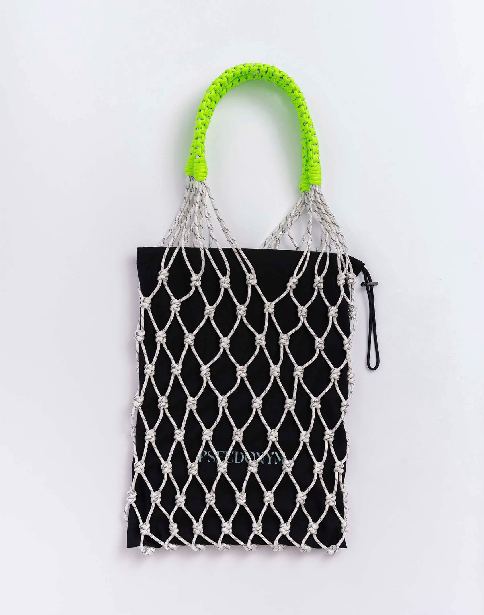 P.S. Field Bag 15 (Dad Shoe), white reflective/neon green colorway.