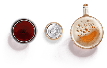 Alcoholic and non- alcoholic drinks at Cenario's Dixon.