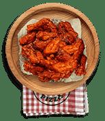 Cenario's Dixon menu chicken wings tab