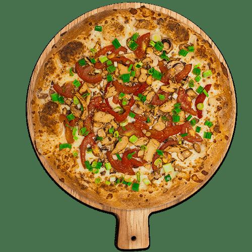 Cenario's Dixon Chicken Garlic pizza. Best pizza in Dixon.