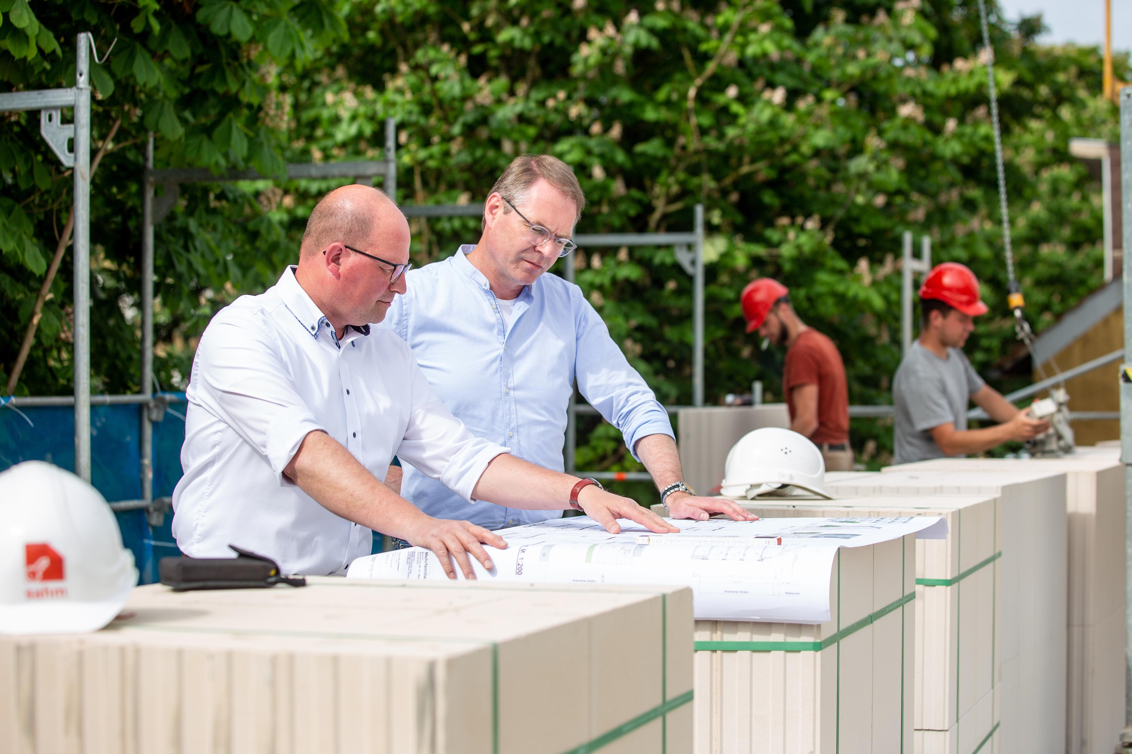 Sahm GmbH | Planung auf der Baustelle