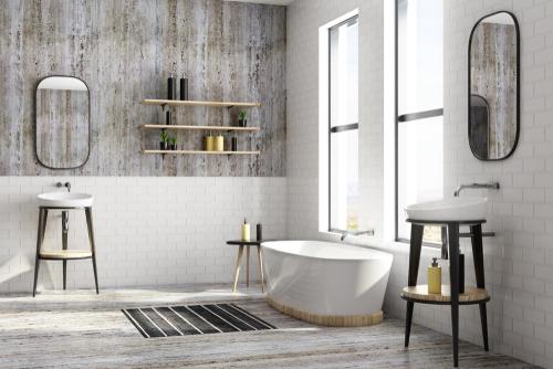 drain cleaning bathroom image