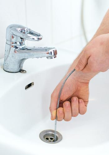 snake down a sink drain