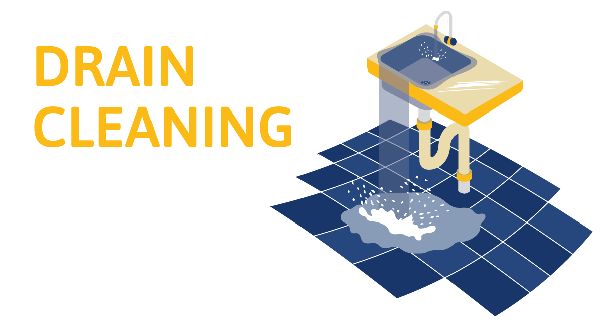 drain cleaning illustration