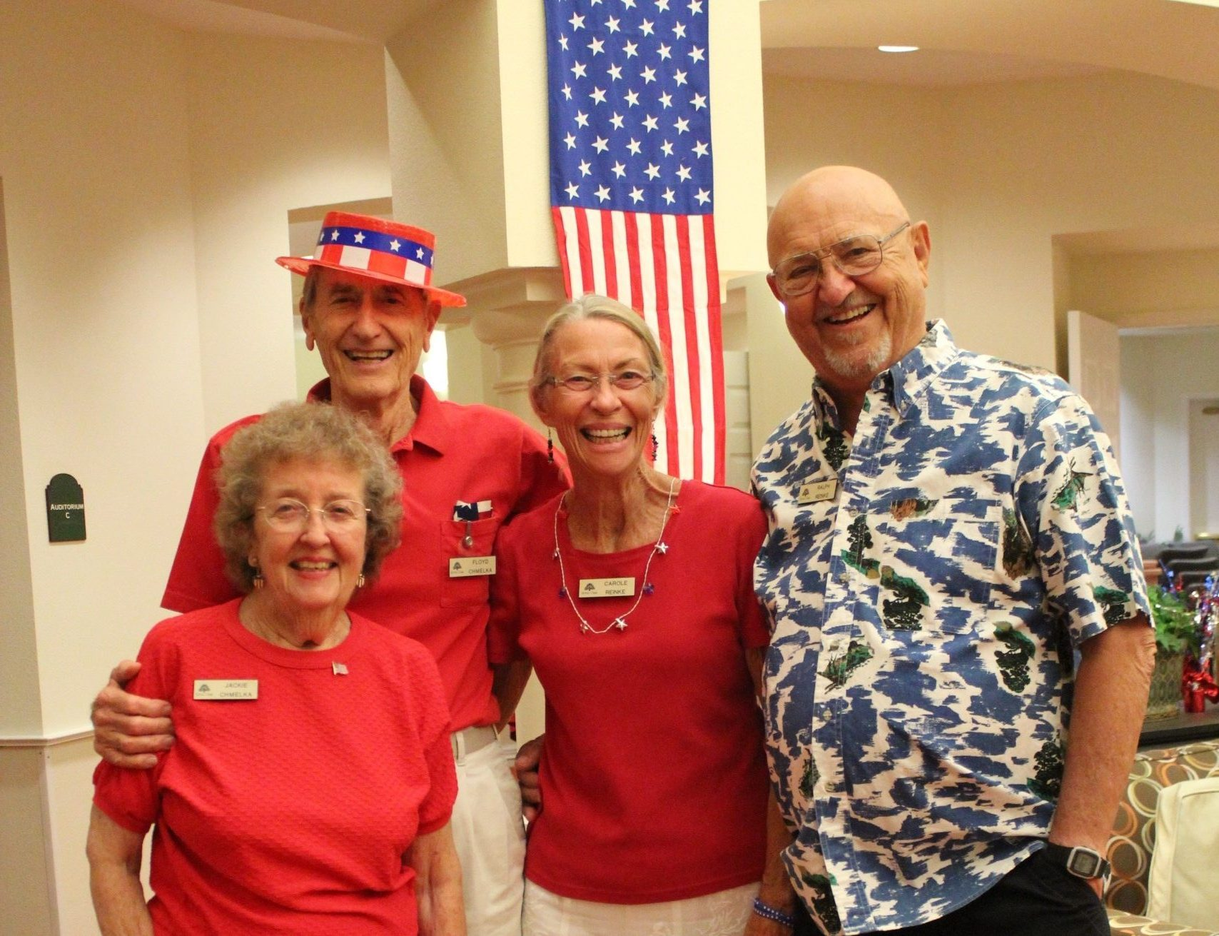 Royal Oaks residents celebrated our country's birthday in grand style with dancing and frivolity