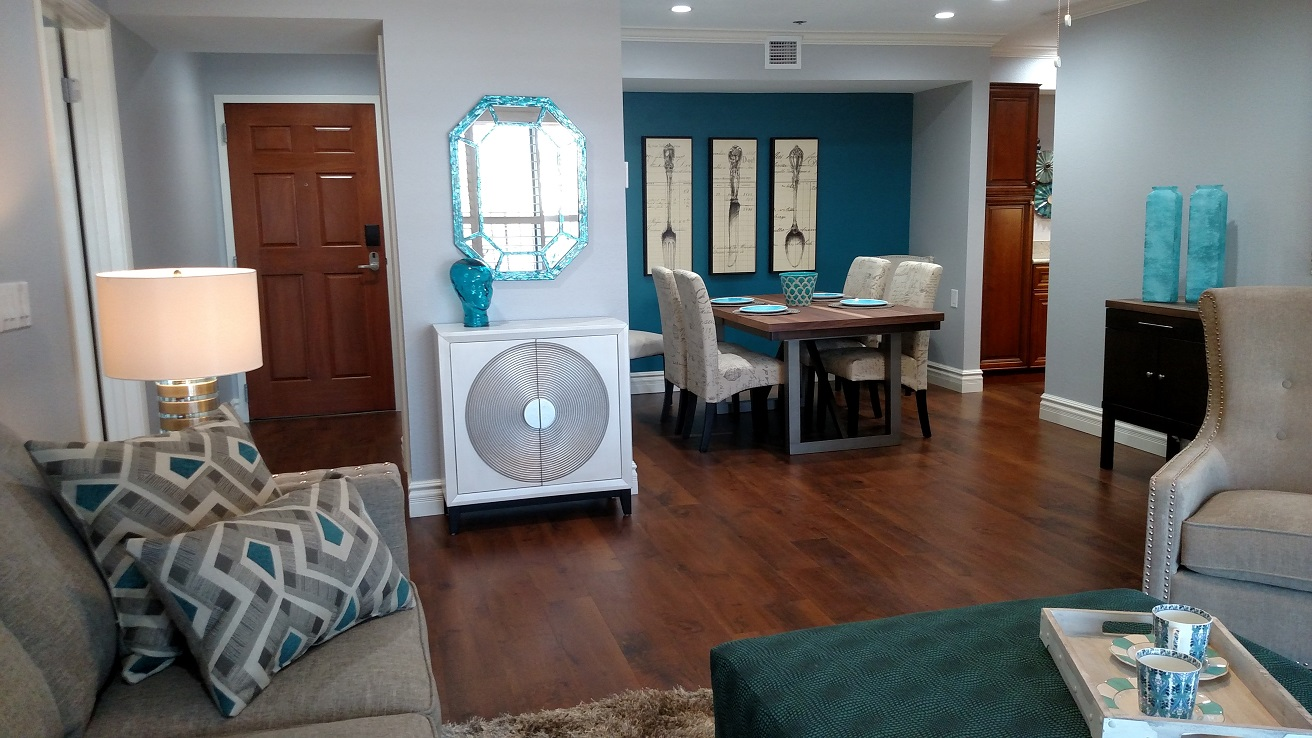Fully furnished Mimosa apartment can be yours. Check it out by arranging a visit to Royal Oaks.