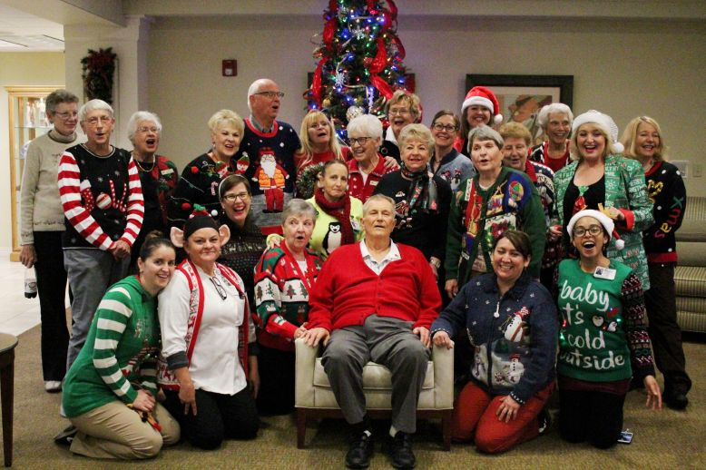 Ugly Christmas Sweater Day does not go unnoticed at Royal Oaks