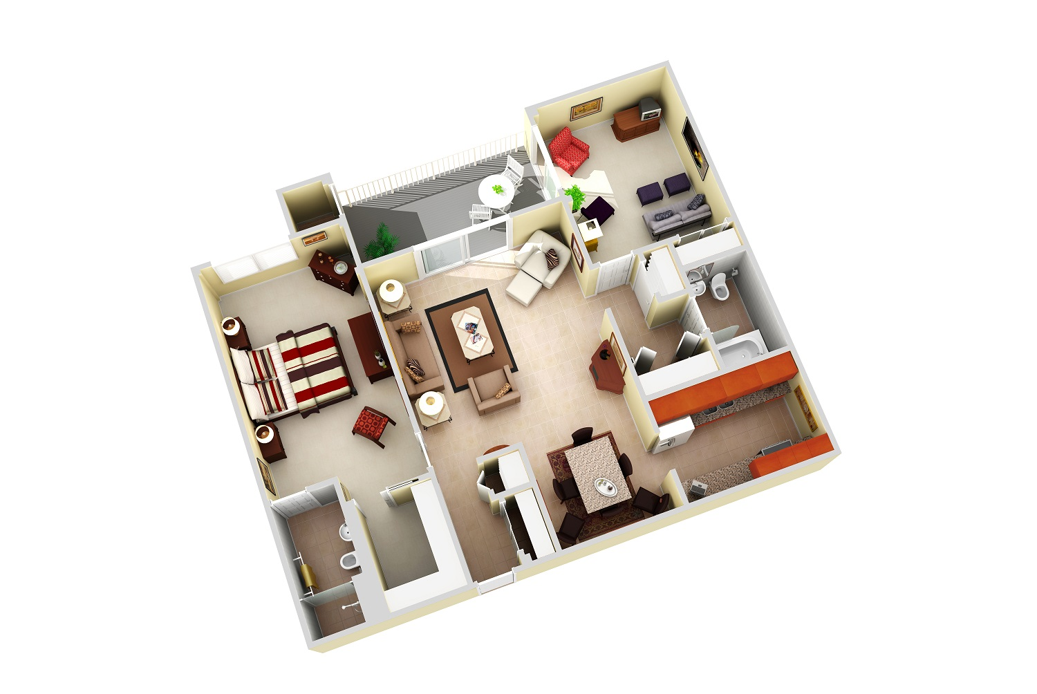 The Mimosa Apartment, 1,204 sq ft - Apartment 117 - A refreshing residence built for fun