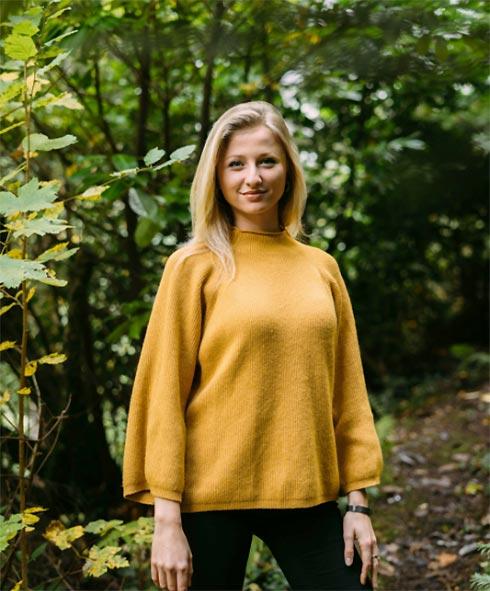 Nicole Borek, Gründerin von Baboon, im Wald