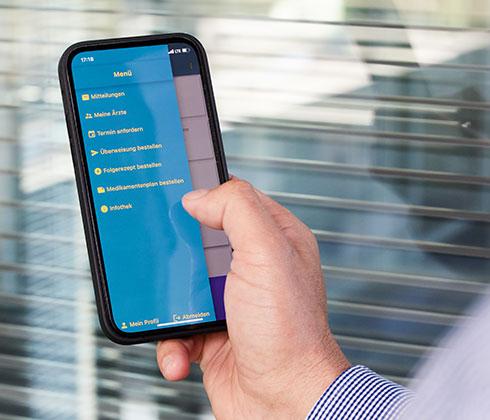 Meet Your Doc-App auf dem Smartphone