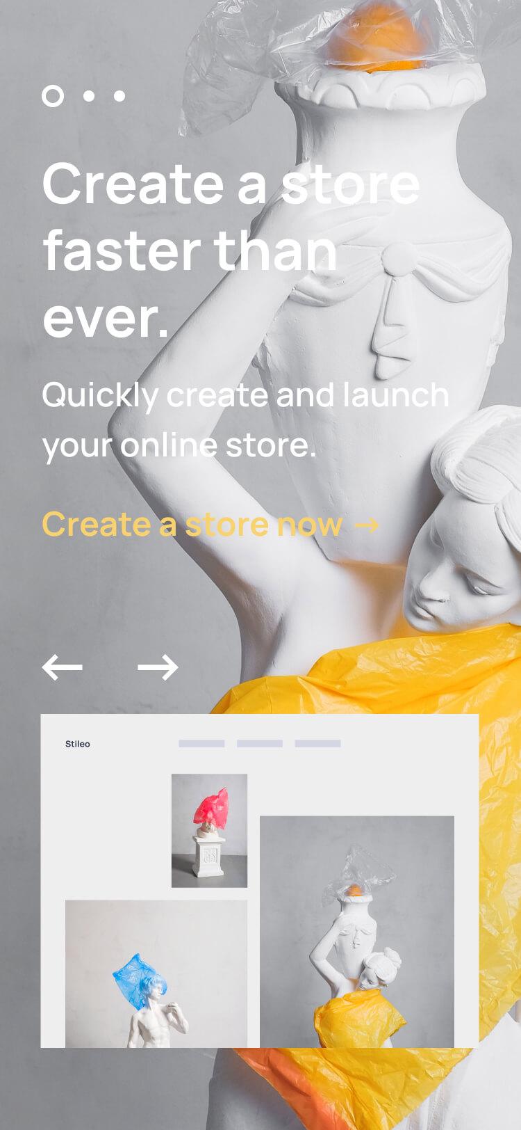 Homepage Slider Section Mockup