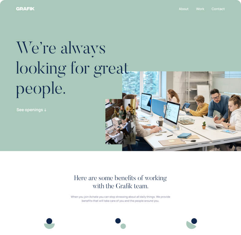 Website Layout Example