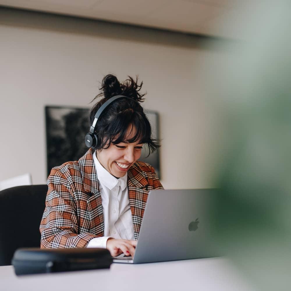 Working behind a desk