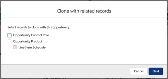clone with related record in salesforce