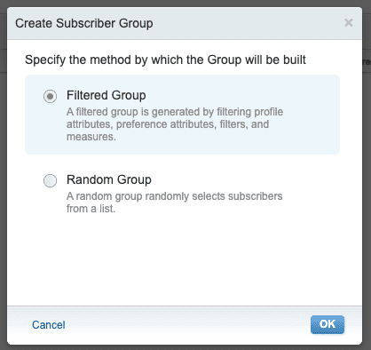 how to create groups in email studio