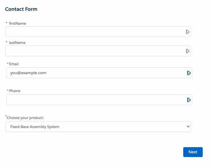 web form with styling