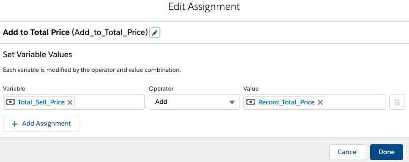 configure the second assignment element in the flow