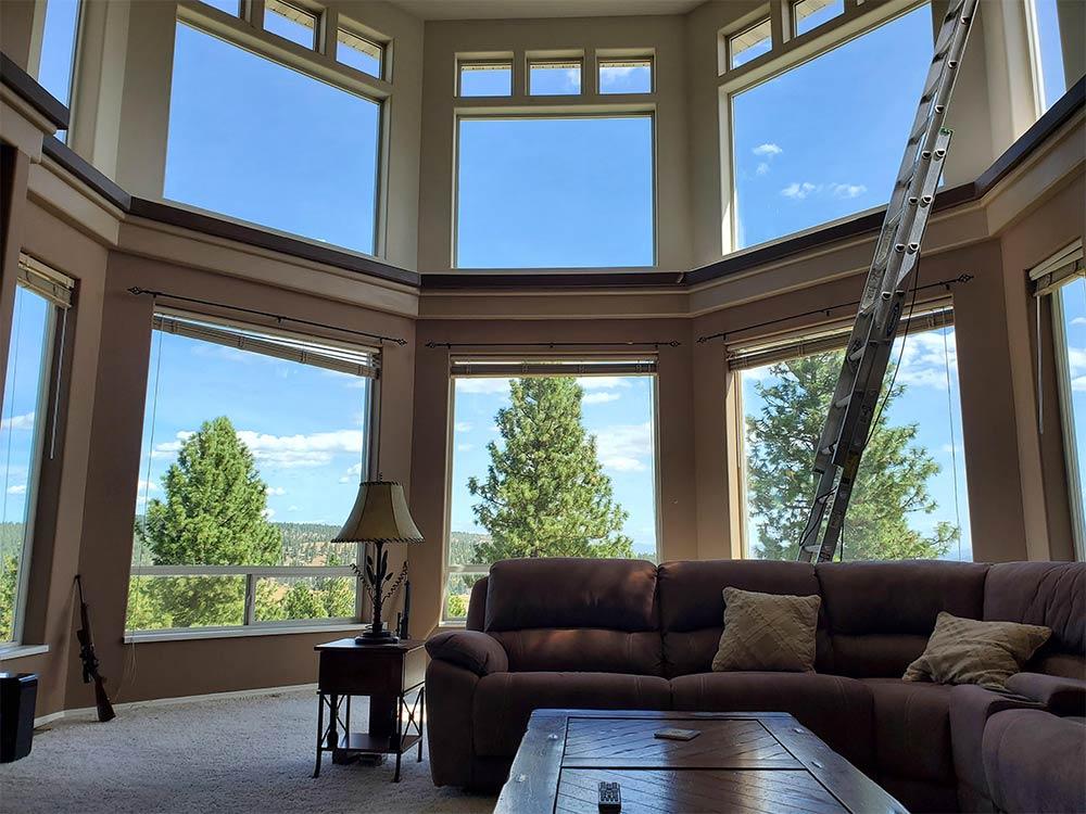 Indoor window cleaning in Spokane, WA