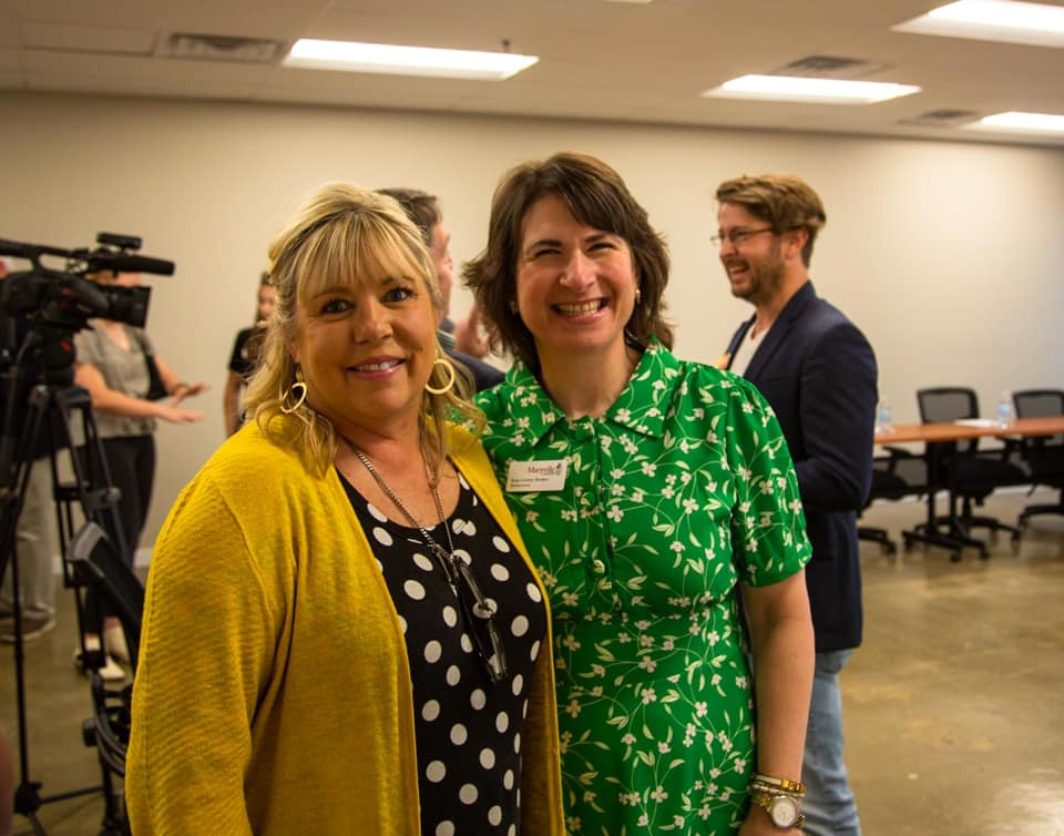 Image of Tammi Ford and Suzy Booker, two of Sky City's board members