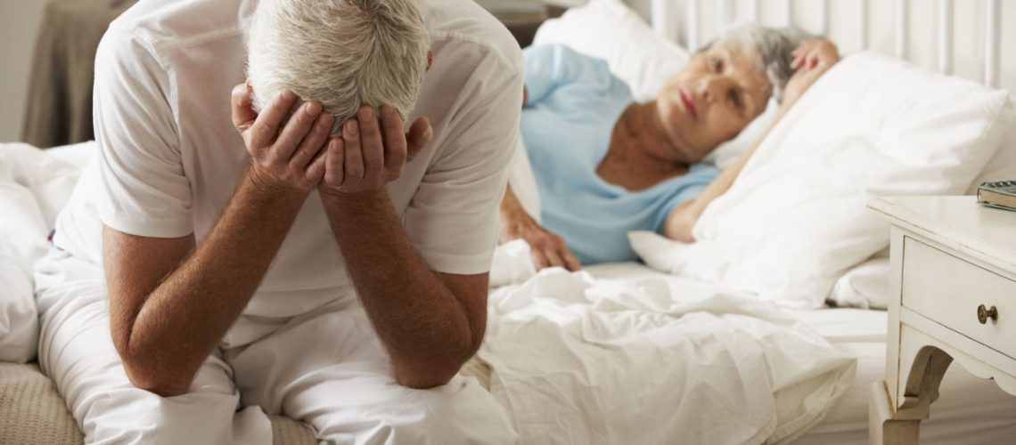 an old couple desperate because of erectile dysfunction