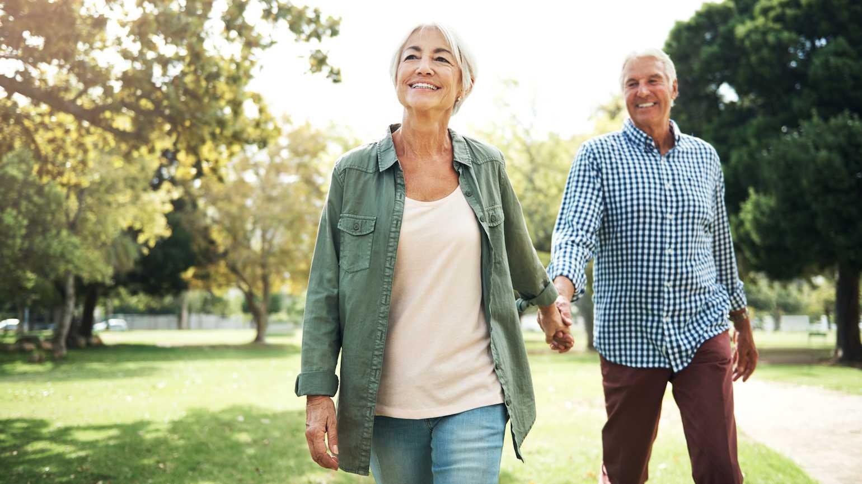 happy elderly couple cured of ED