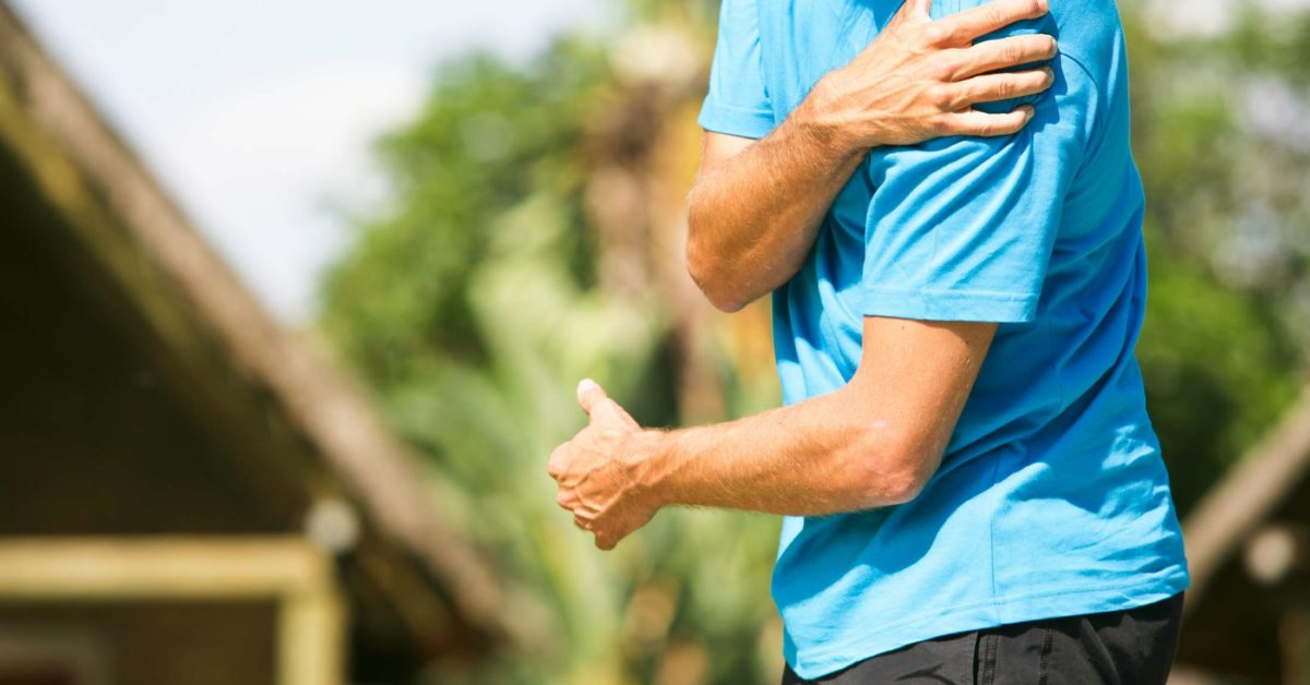 discomfort and left arm pain