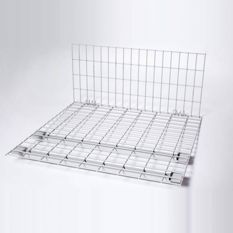 Photo of the shelf attachment on white background - metal wire that lays flat over the utility cart making it easier to haul