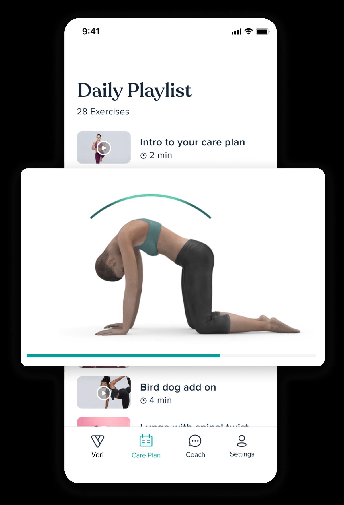 Playlist of exercises