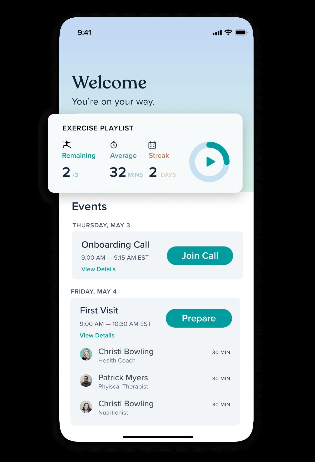 Messaging in the Vori mobile app.